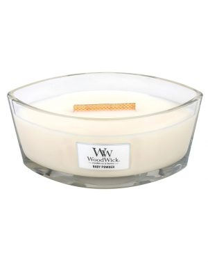 WoodWick HearthWick Baby Powder Ellipse Candle, 453g