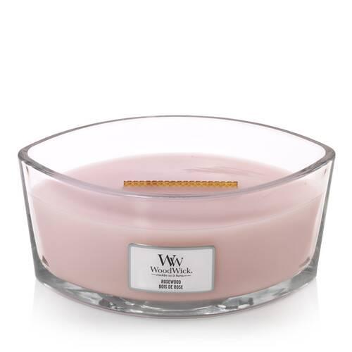 WoodWick HearthWick Rosewood Ellipse Candle, 453g