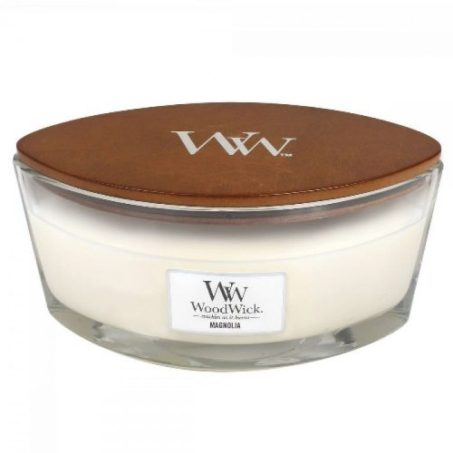 WoodWick HearthWick Magnolia Ellipse Candle, 453g