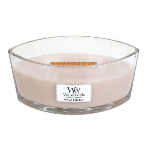 WoodWick HearthWick Vanilla and Sea Salt Ellipse Candle, 453g