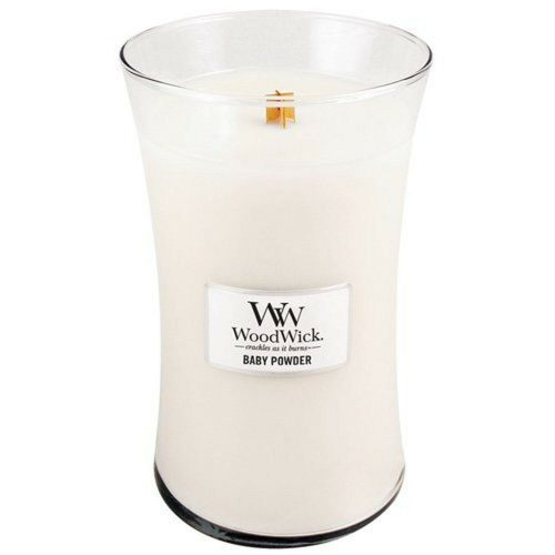 WoodWick Baby Powder Large Hourglass Candle, 604g