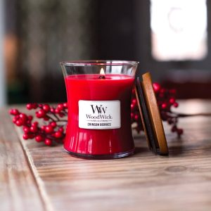 WoodWick Crimson Berries Medium Hourglass Candle, 275g