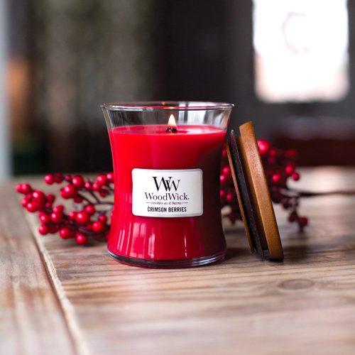 WoodWick Crimson Berries Medium Hourglass Candle, 275g