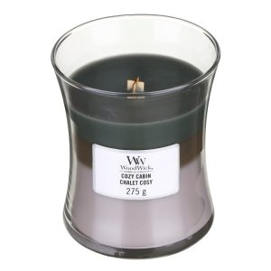 WoodWick Cozy Cabin Trilogy Medium Hourglass Candle, 275g
