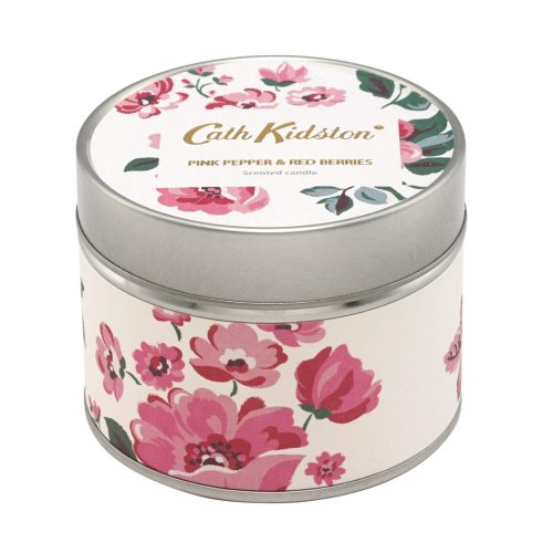 Cath Kidston Pink Pepper and Red Berries Tinned Candle