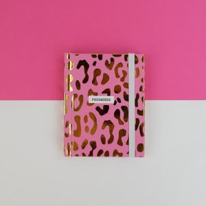Pink Leopard Print Password Book - Really Good - RGNB02