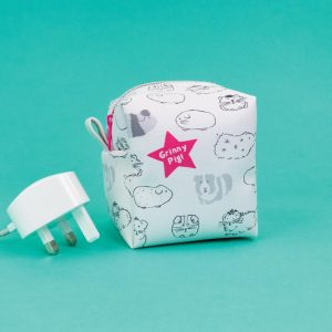Guinea Pig 'Grinny Pig' Zipped Cube Little Case - GSG13 - Giggle and Snort Collection - Really Good