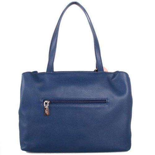 Red Cuckoo - 388 - Navy Blue Flower Detail Grab Bag Shoulder Bag