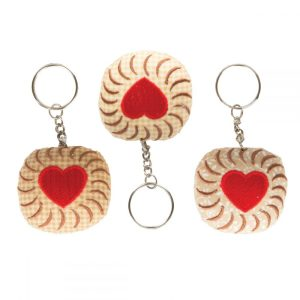 Jammy Dodger Plush Keyring - Sass and Belle
