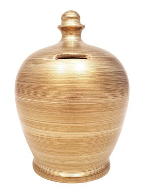 Terramundi Money Pot - Metallic Gold - A82
