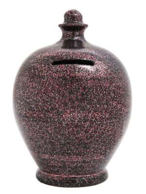 Terramundi Money Pot - Black With Silver and Red Glitter - G1