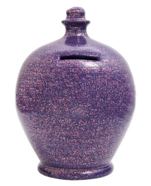 Terramundi Money Pot - Glitter Purple With Silver and Red Glitter - G5