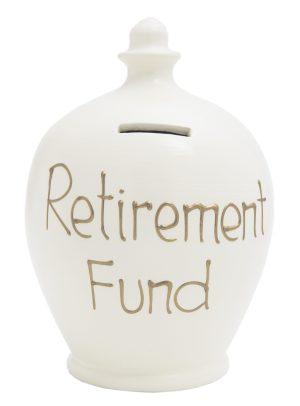 Terramundi Money Pot - Retirement Fund, White - S12