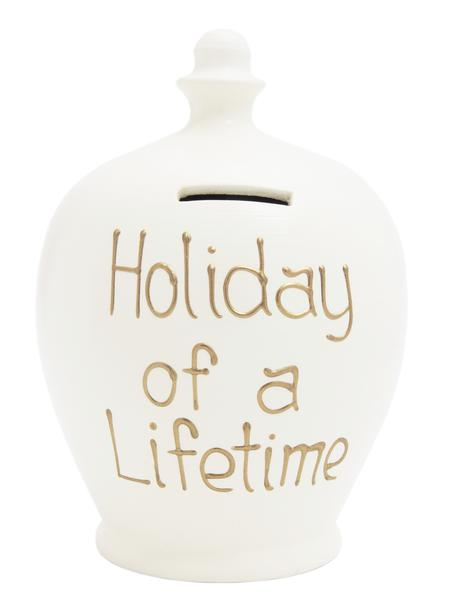 Terramundi Money Pot - Holiday of a Lifetime, White - S127