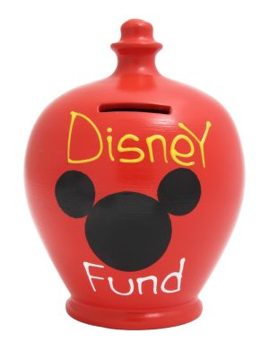 Terramundi Money Pot - Disney Fund, Red - S152