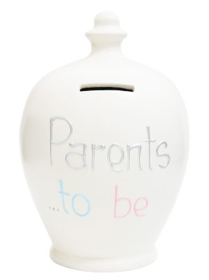 Terramundi Money Pot - Parents To Be, White - S279