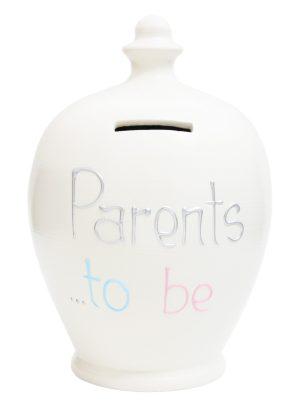 Terramundi Money Pot - Parents To Be, White - S279