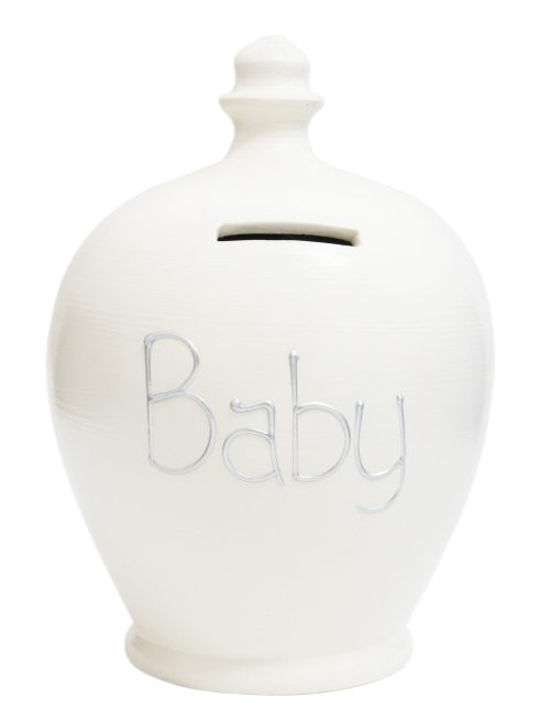 Terramundi Money Pot - Baby, White - S48