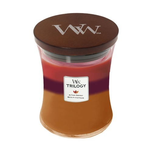WoodWick Autumn Harvest Trilogy Medium Hourglass Candle, 275g