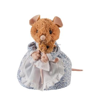 Hunca Munca Mouse and Baby Medium Soft Toy - Beatrix Potter
