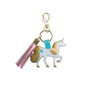 Unicorn Tassel Keyring - Cloud Nine