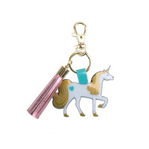 Unicorn Tassel Keyring - Cloud Nine