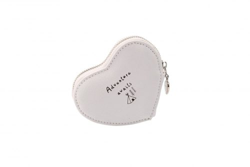 'Adventure Awaits' Heart Shaped Coin Purse - Sent and Meant