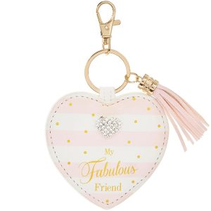 Mad Dots My Fabulous Friend Heart Keyring