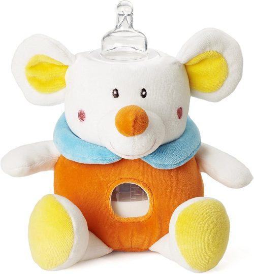 Milkysnugz Mouse Baby Feeding Bottle Cover Holder
