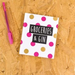 Groceries and Gin Notebook - Deck Chair, Really Good