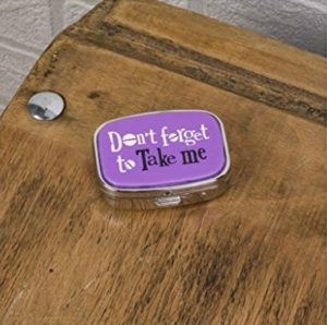 'Don't Forget To Take Me' Purple Pill Box - The Bright Side