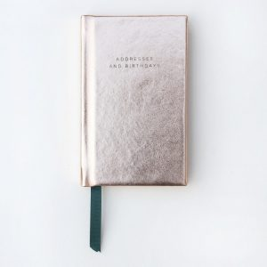 Rose Gold Metallic Handbag Size Address Book - Caroline Gardner