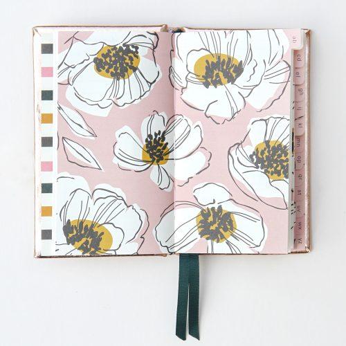 Rose Gold Metallic Handbag Size Address Book - Caroline Gardner