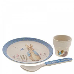 Peter Rabbit Bamboo Egg Cup Dinner Set - Beatrix Potter