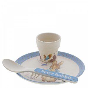 Peter Rabbit Bamboo Egg Cup Dinner Set - Beatrix Potter