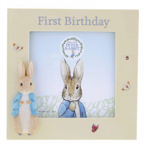 Peter Rabbit First Birthday Photo Frame - Beatrix Potter