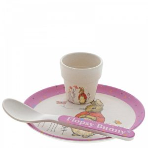 Flospy Bunny Bamboo Egg Cup Dinner Set - Beatrix Potter