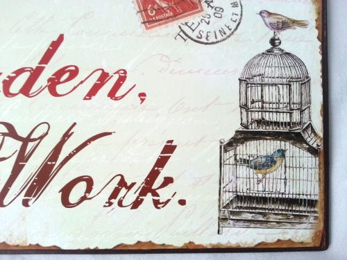'Born To Garden Forced To Work' Vintage Metal Sign - Heaven Sends