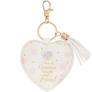 Mad Dots 'Always My Grandma, Forever My Friend' Heart Keyring