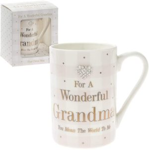 Mad Dots 'For A Wonderful Grandma' Ceramic Mug