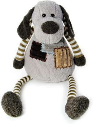 Mousehouse Stripy Puppy Dog Plush Toy, 30cm