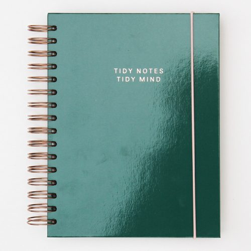 Green Patent Notebook Organiser Diary - Caroline Gardner