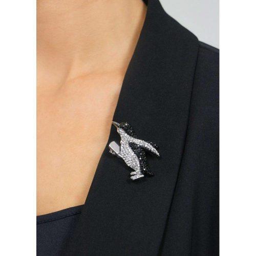 Rosie Fox Crystal Penguin Brooch and Hair Clip
