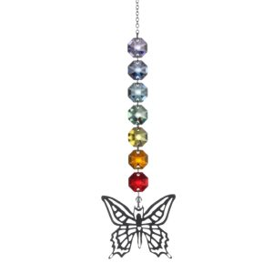Crystal Radiance - Metal Butterfly Swarovski Crystal Rainbow Maker Sun Catcher