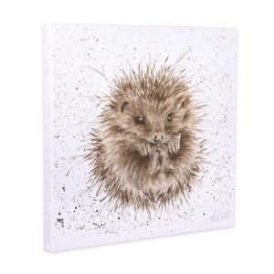 Wrendale Designs Awakening Hedgehog Small Canvas - 20 x 20 cm