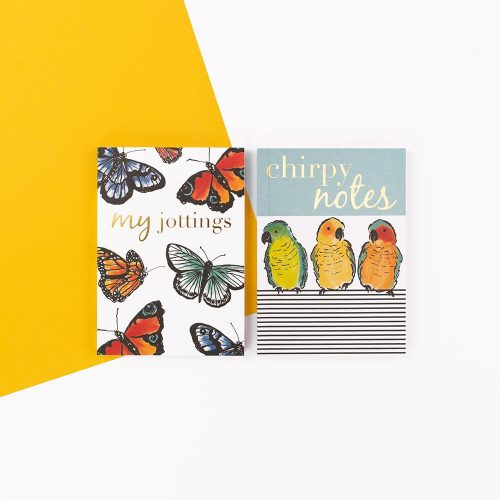 Secret Garden Two Pack of Notebooks - My Jottings and Chirpy Notes - Soul UK, SGNBP02