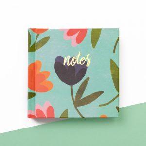 Floral Mini Notes Notebook, IMMB12 - Soul UK