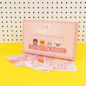 Pink Baby Girl Baby Milestone Cards - TICKG16 - Tickle Collection - Really Good