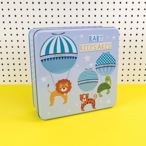 Blue Baby Boy Keepsakes Tin - TICKTIN05 - Tickle Collection - Really Good