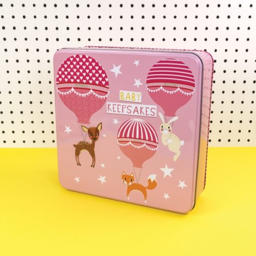 Pink Baby Girl Keepsakes Tin - TICKTIN06 - Tickle Collection - Really Good